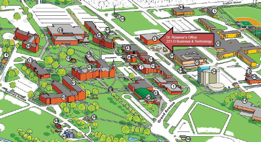 Nsu Campus Map Nsu Tahlequah Campus Map | Map North East